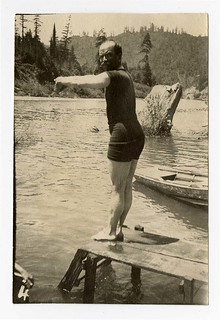 [Man about to dive into water] | by California Historical Society Digital Collection