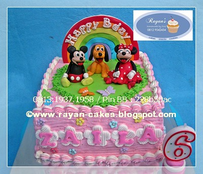 Amazing Mickey Minnie Mouse Birthday Cakes Buttercream And Fondant Flickr Funny Birthday Cards Online Overcheapnameinfo