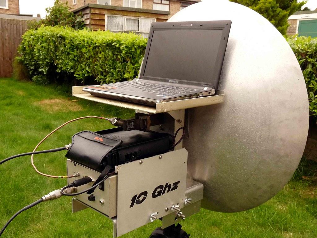 G0PEB KST Mod | G0PEB 10Ghz Transverter, Antenna : 60cm dish