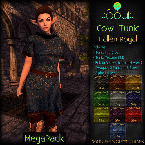 2014 Cowl Tunic FR - Female - MegaPack | by .:Charlie:. of .:Soul:.