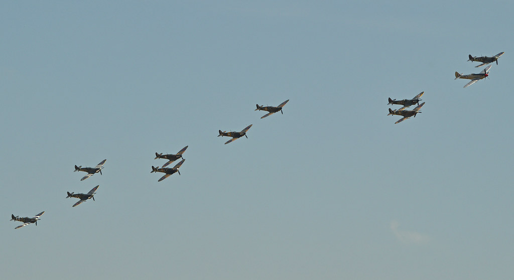 Spitfire formation - 2014 Flying Legends
