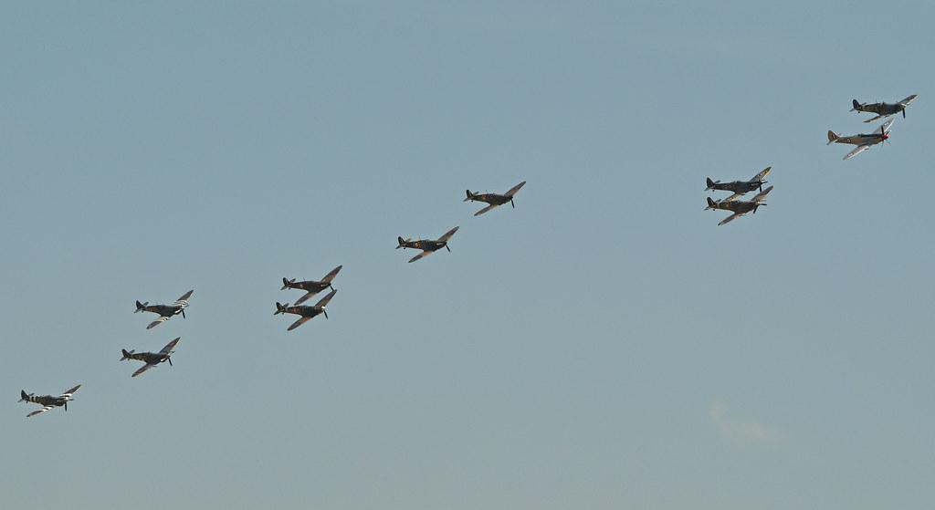 Spitfire formation - 2014 Flying Legends