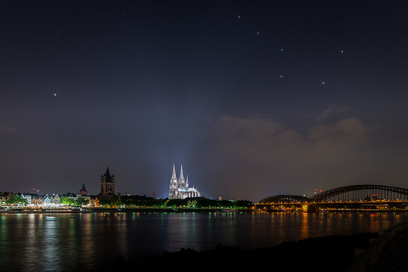 Big Dipper over Cologne Cathedral