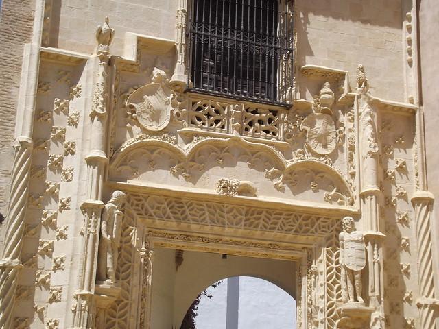 Real Alcázar - Seville - gardens - Jardines del Marqués de la Vega-Inclán - Marchena Door - sculptures