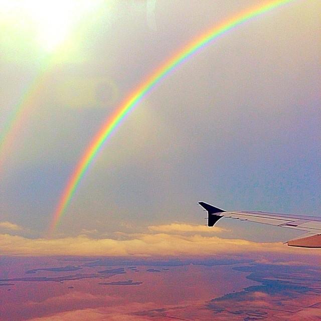 Llegando a Culiacán, nos sorprendió un arco iris #aviary #arcoiris #culiacan