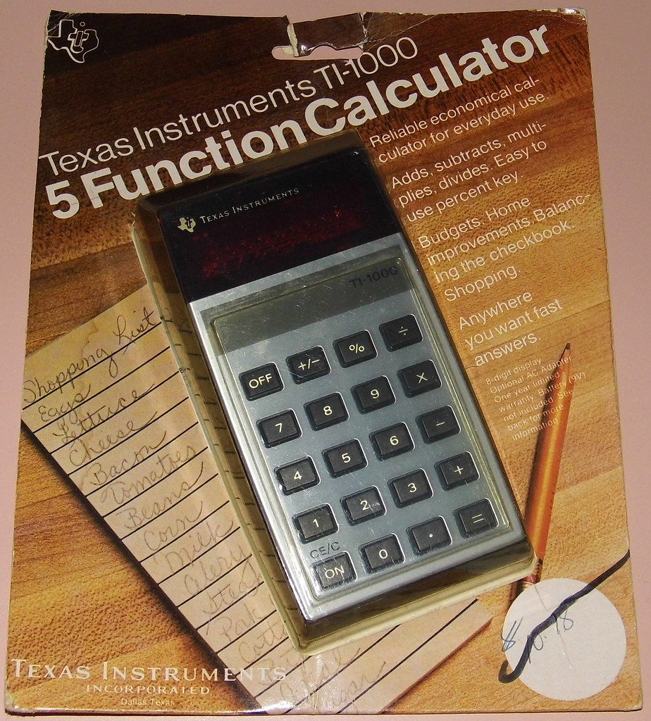 Vintage Texas Instruments Electronic Pocket Calculator In