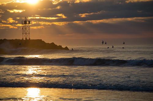 ocean morning summer sun birds clouds sunrise surf jetty gulls maine wells atlantic breakwater wellsbeach wellsme