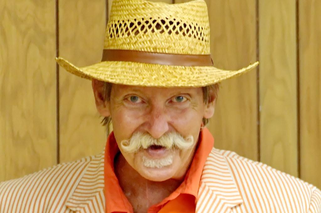 Man In Orange Seersucker Suit My Friend Larry In His Orang Flickr