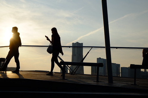 sunset people silhouette japan yokohama