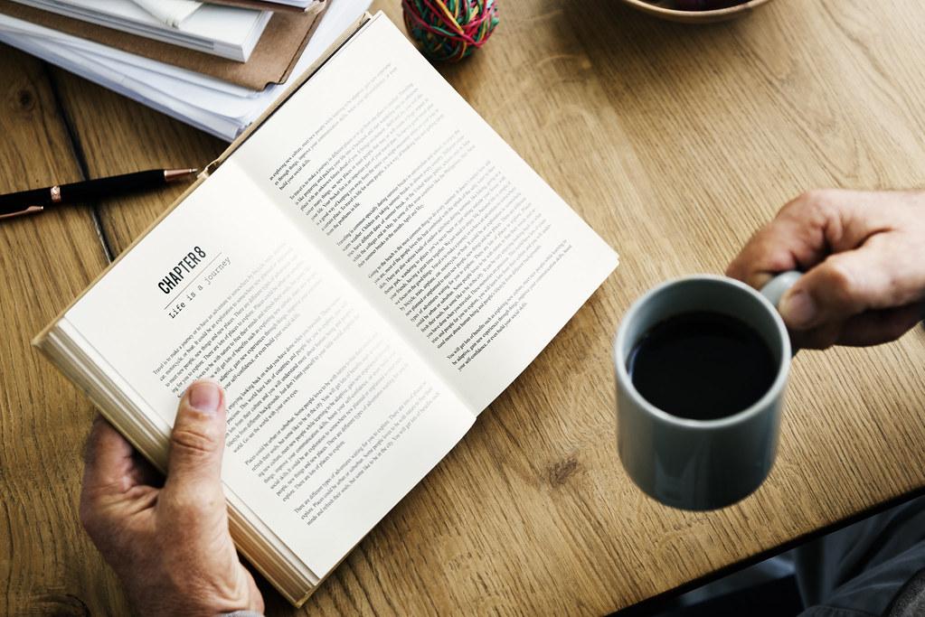 Coffee Break Reading Travel Book Lifestyle Concept