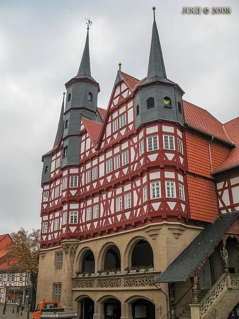 Duderstadt, Altstadt, Rathaus, Niedersachsen (Harzvorland)