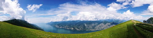 sky italy mountain clouds view monte alp figures malcesine iphone baldo