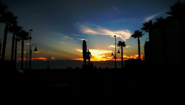 Enjoying the rays of sunset