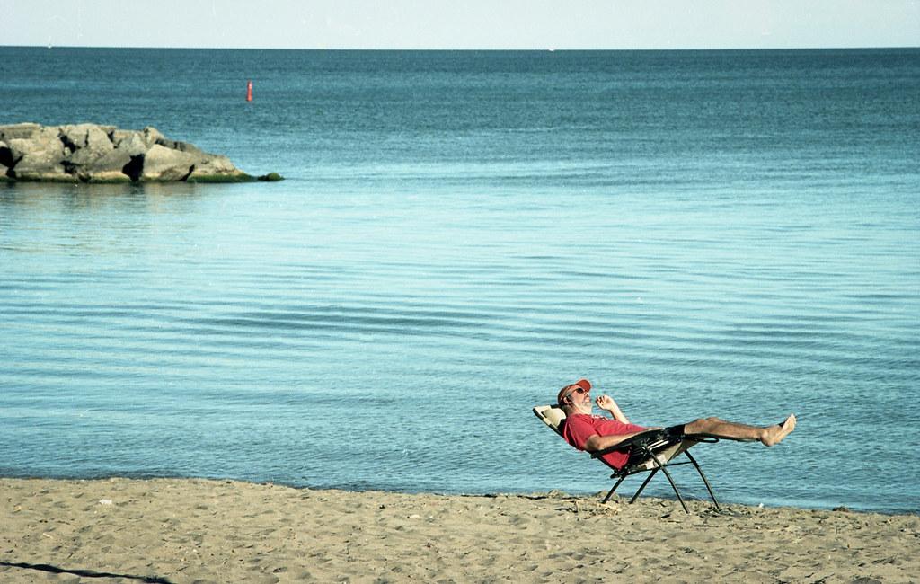 Man by the Beach: Colour version