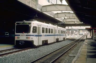 Light rail at Penn Station, Baltimore