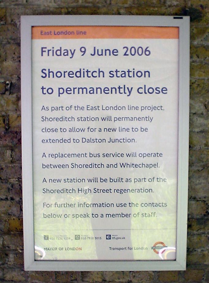 Shoreditch Station: Shoreditch Station To Boldly Split