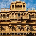 Exterior of City Palace in Jaisalmer Fort, India ジャイサルメール、フォートの中にあるシティパレス外観