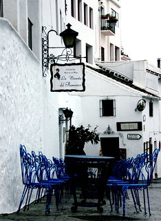 Blue Chairs in a White town | by jodi_tripp