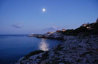 blue moon luna llena sobre port cristo