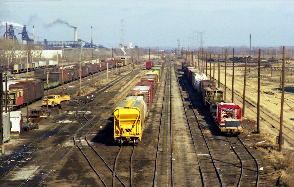 Chicago and NorthWestern East St. Louis IL Yard - Jan 1979