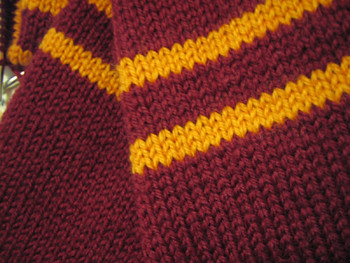 Knit Project 2 Gryffindor Scarf Pattern Taken From Atypi Flickr