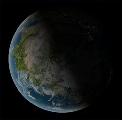Earth Asia Terminator View | by FlyingSinger
