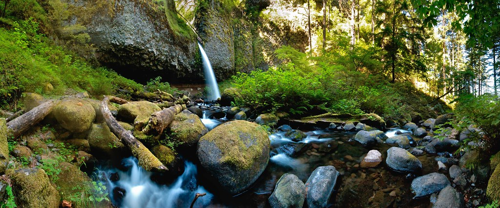 Ponytail Falls from Horsetail Creek by tychay