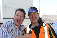 2014 1214 Pioneer Park Gawler Carols MC Cosi Costello and Leon Budden - organiser (2)
