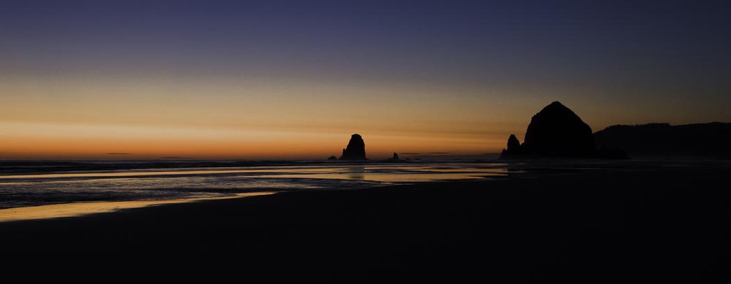 sunset @ Cannon Beach, OR