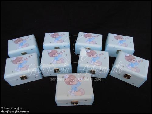"""Caixa grande de batizado e caixas de lembrança """"Little Sailor""""   by GataPreta Artesanato"""
