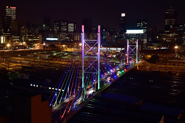 Mandela Bridge, Johannesburg, Gauteng, South Africa