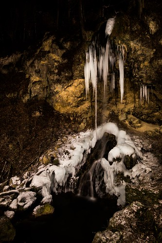 sony alpha a58 sigma 1020mm f35 wideangle long exposure frozen waterfall water stream bare stark rocks nature winter lillafüred miskolc hungary tourist sight night