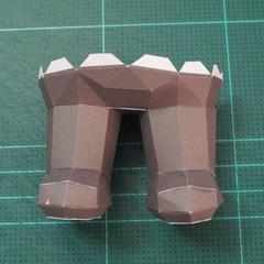 วิธีทำโมเดลกระดาษหมีบราวน์ชุดบอลโลก 2014 ทีมบราซิล (LINE Brown Bear in FIFA World Cup 2014 Brazil Jerseys Papercraft Model) 025