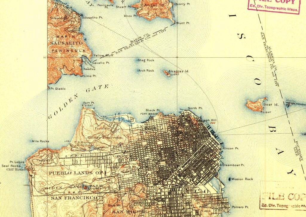 San Francisco, California, 1899, 15-minute topographic map ...