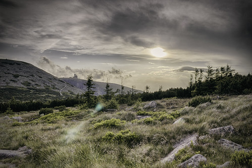 sunset mountains clouds canon hdr 600d