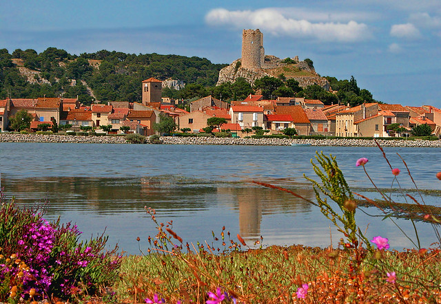 FRANCE - Gruissan (Old village) and Barberousse tower