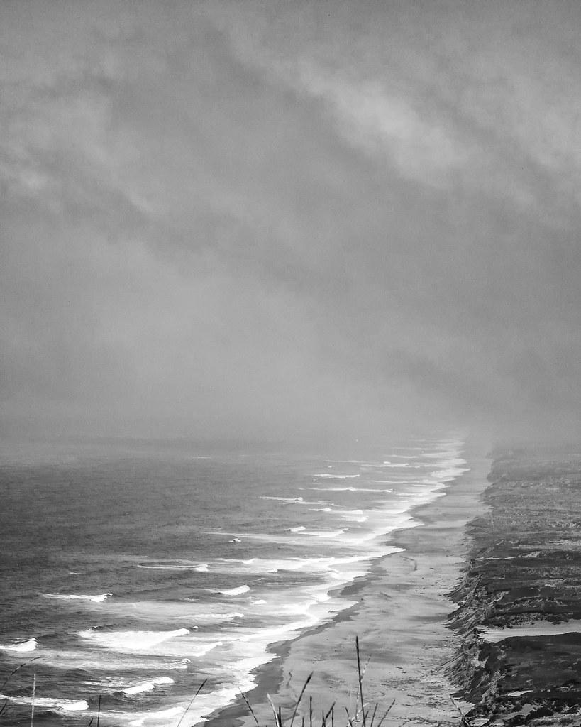 Foggy at the beach