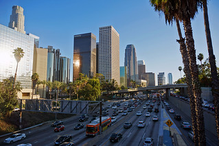 Downtown L.A. and Harbor Freeway | by CalUrbanist