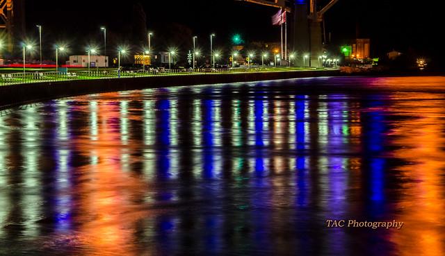 Port Huron river front under the Blue Water Bridge, August 2104