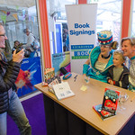 Sarah McIntyre and Philip Reeve book signing |