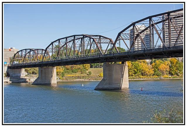 History - The Old Traffic Bridge, Saskatoon, Saskatchewan, Canada.
