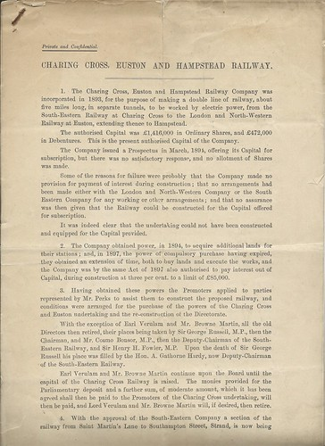 Charing Cross, Euston and Hamstead Railway Report on affairs of the company 1898   by ian.dinmore