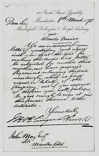 Macclesfield, Bollington & Marple Railway letter 1870 | by ian.dinmore