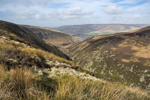 torside longdendale valley moors moorland hills derbyshire england march day beautiful view scenery colours landscape peakdistrict