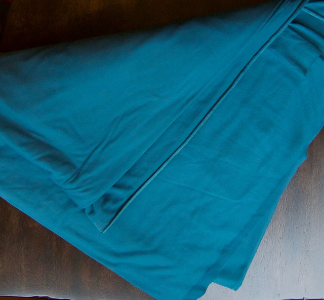 teal blue rayon jersey