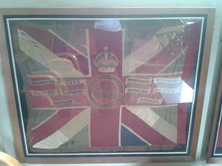 The Queens Battalion Battle colours St Mary Magdalen  Church, Bermondsey.