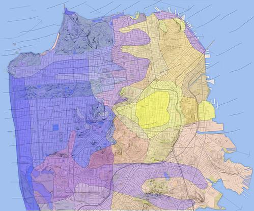 San Francisco Fog Map - first draft