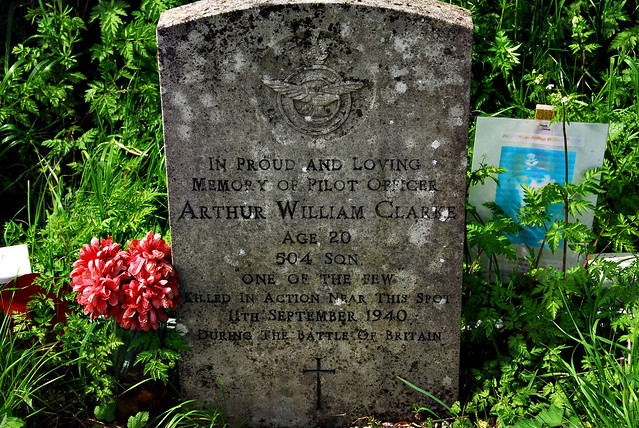 Memorial to Pilot Officer Arthur William Clarke