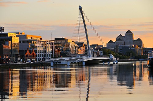 travel bridge ireland sunset dublin reflection photography nikon open ngc adventure beckett samuel