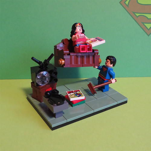 Super Heores in action: Superman